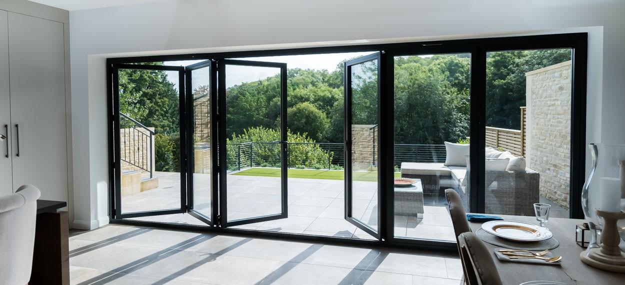 View of a new bifold door design by 21st Century Conservatories & Fascias