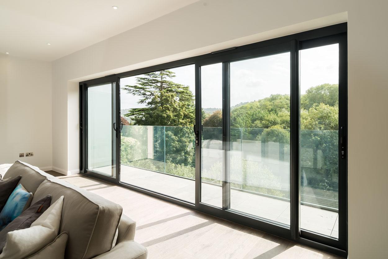 A gorgeous Real Aluminium sliding patio door installation