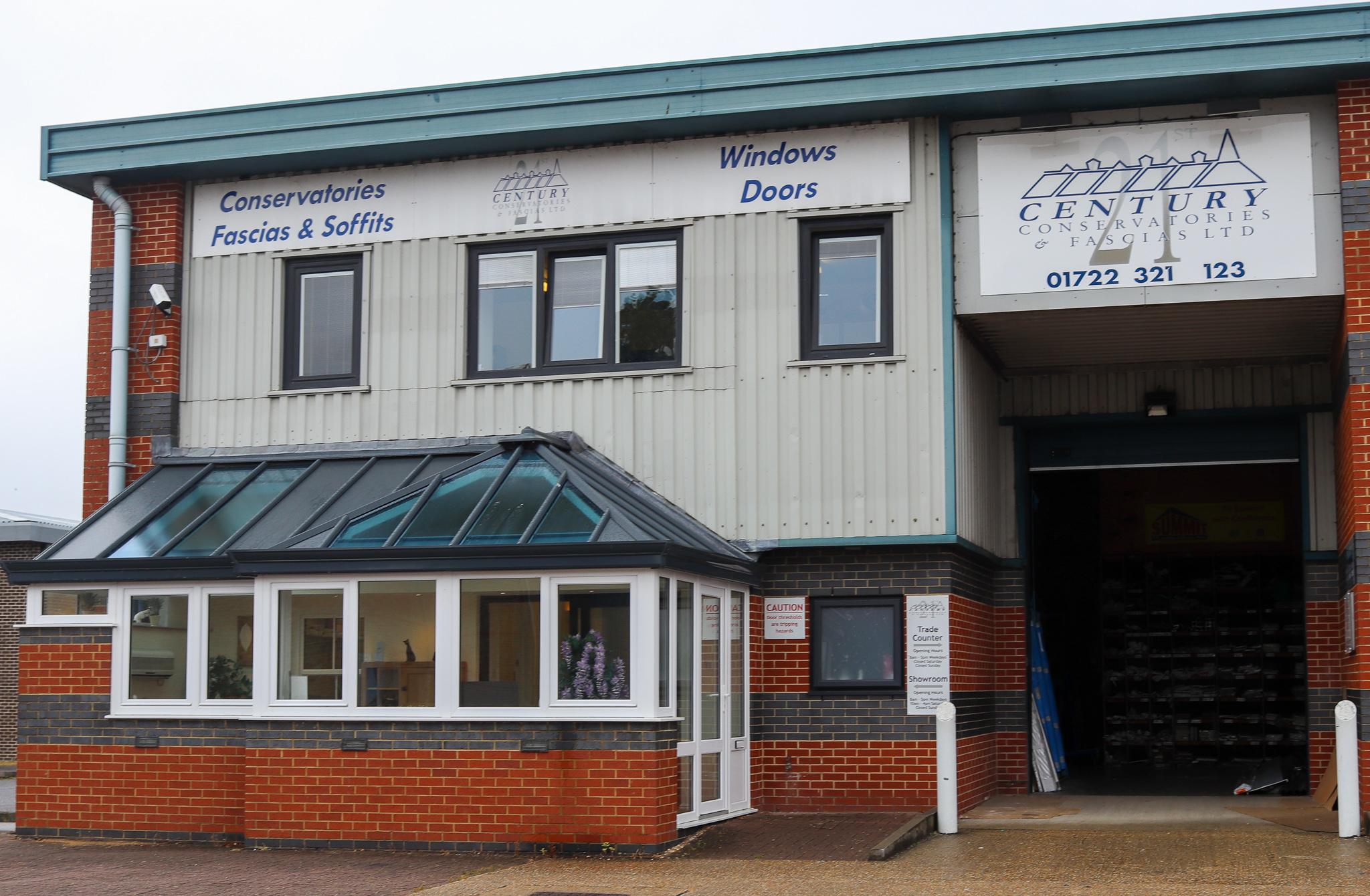 Front view of 21st Century's store in Salisbury, Wiltshire.