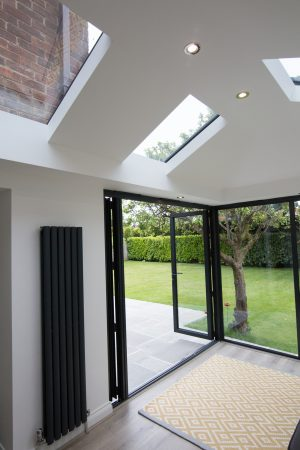 A Livin Roof Ceiling from a new extension installation