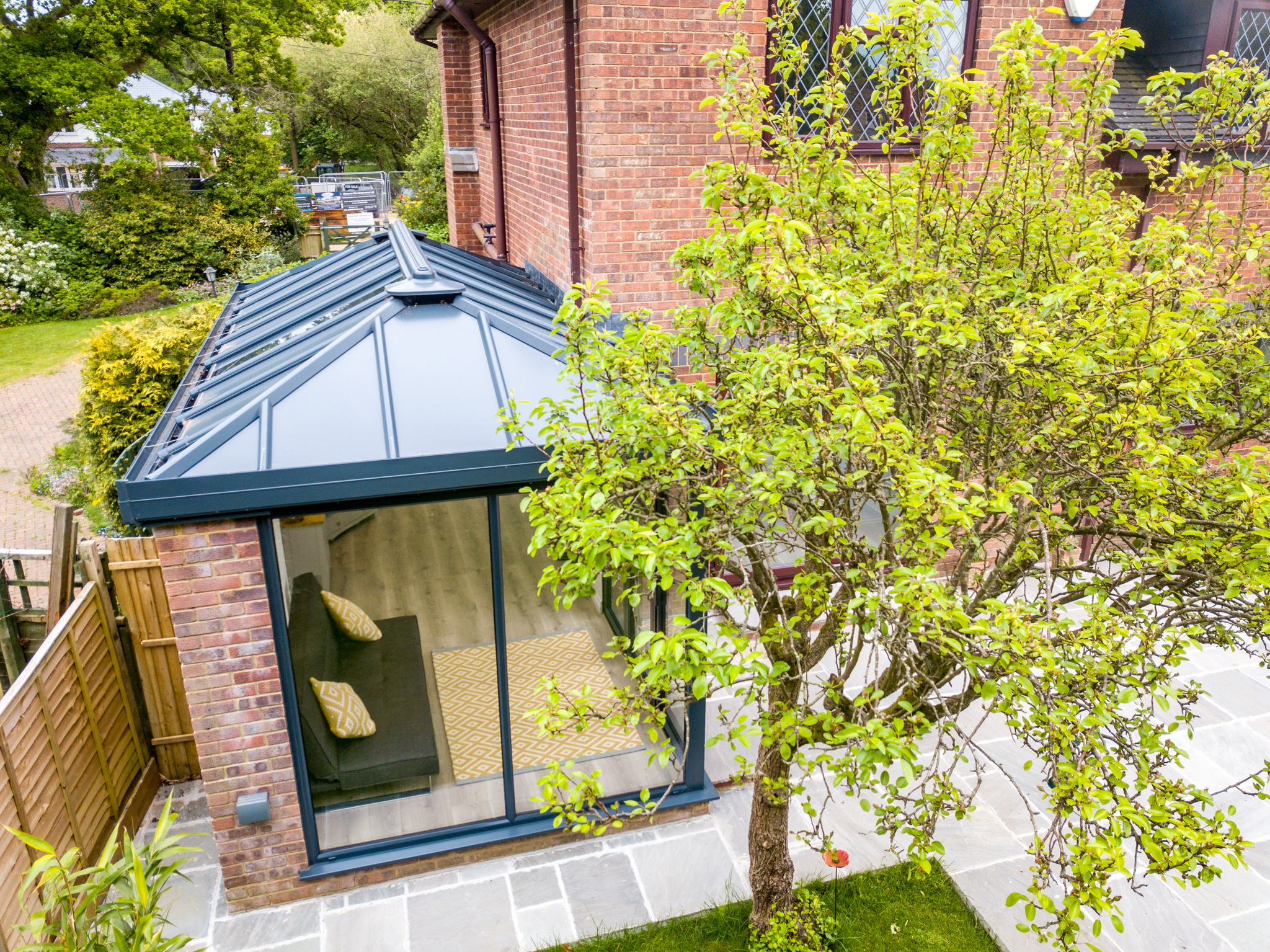 a stunning livin roof extension from 21st Century Conservatories & Fascias