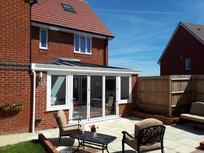 Idyllic image of a new Livin room conservatory.