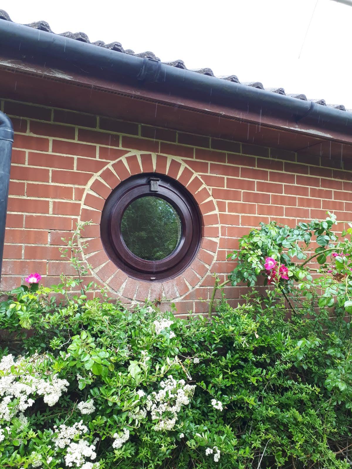 Circular shaped window design by 21st century.