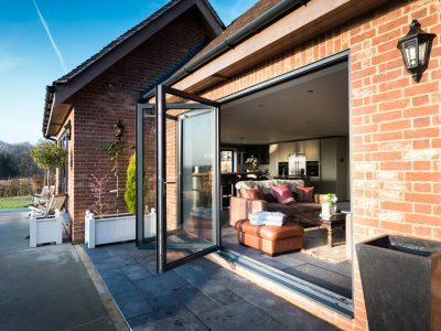 Brand new patio and french doors with Aluminium Bi-Fold.