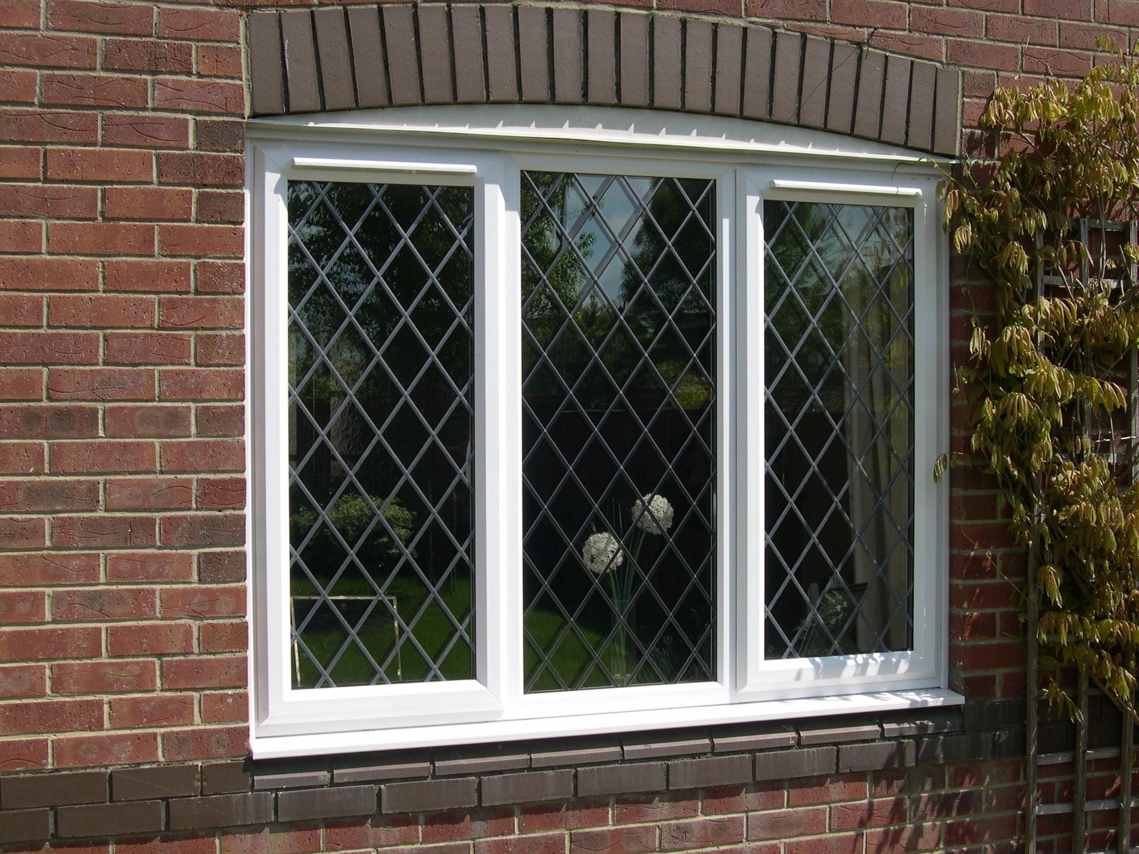 White brand new PVC window.