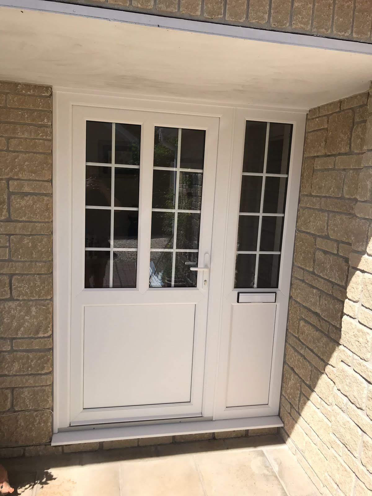 White and modern PVC door design.