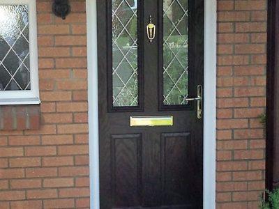 Black composite door design.
