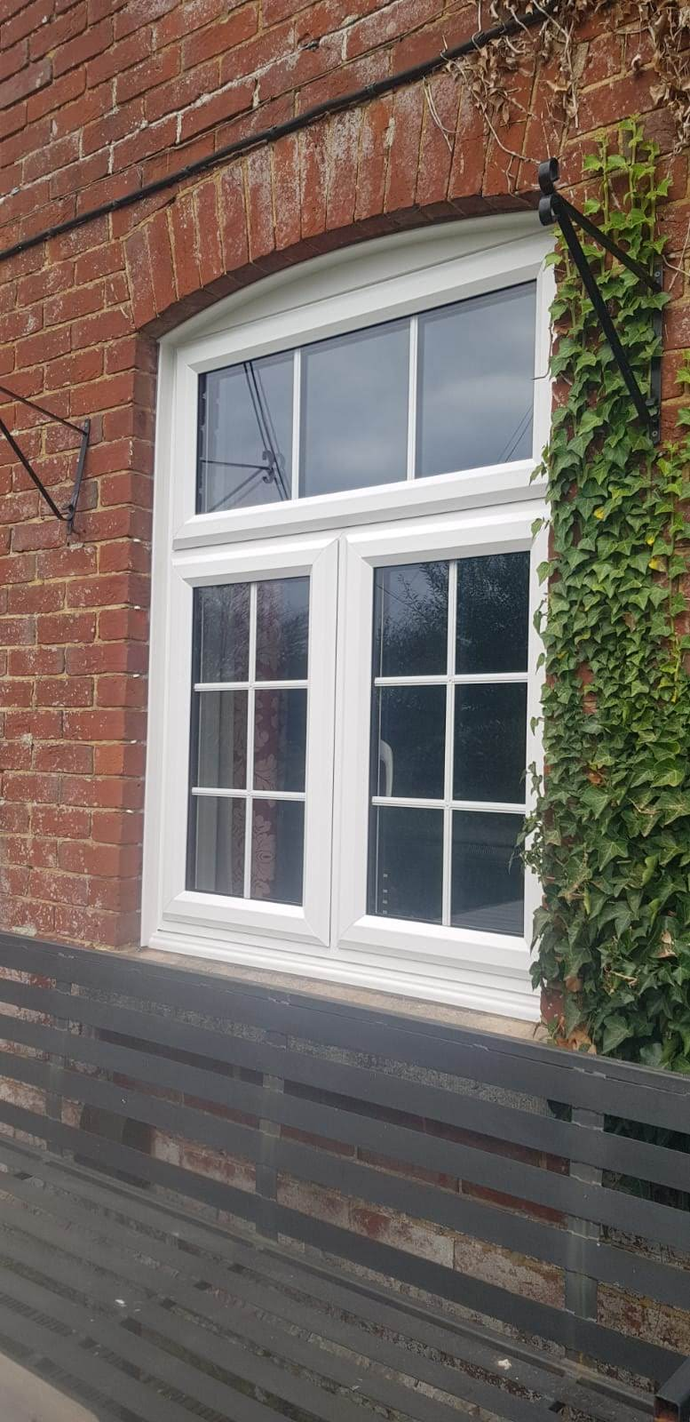 Brand new PVC window installation.