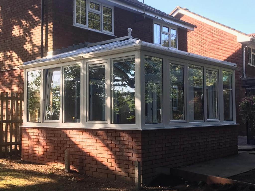 Image of a new and idyllic conservatory.