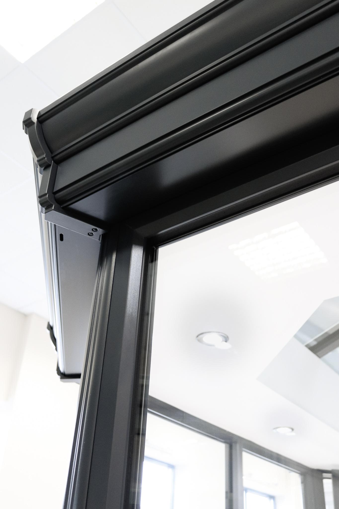Image of black new window frame.