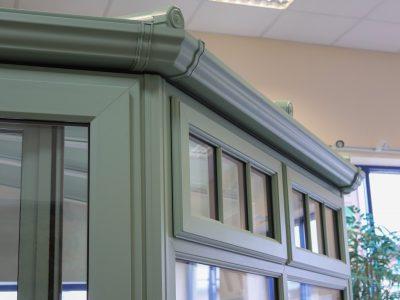 View of Pistachio coloured window frame.