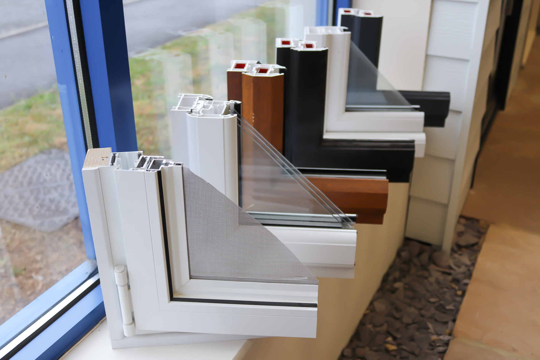 View of different design examples for your window frame.