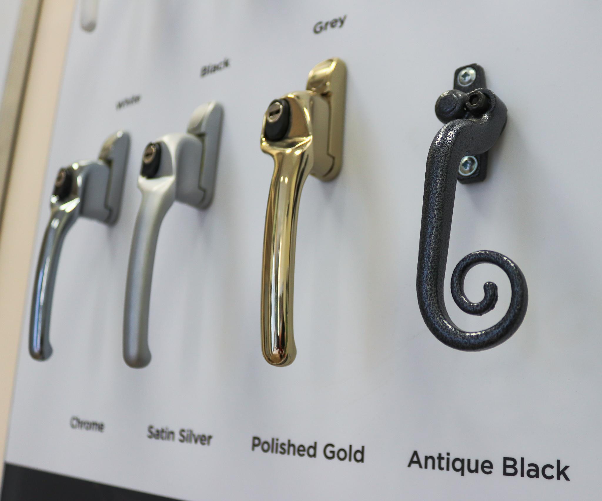 Variety of door handle examples.