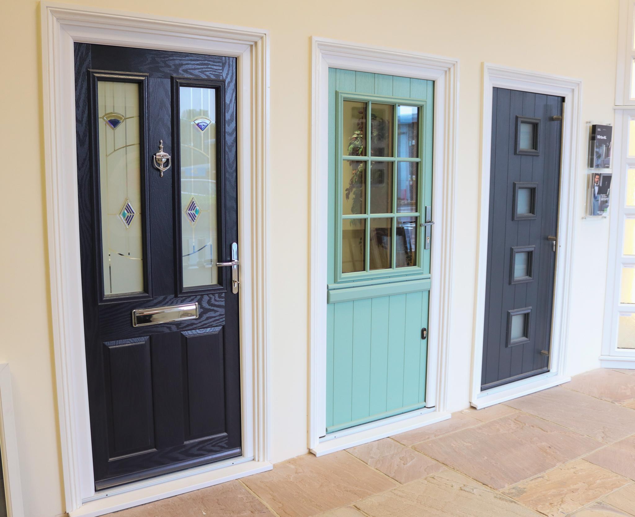 Black and blue front door designs.