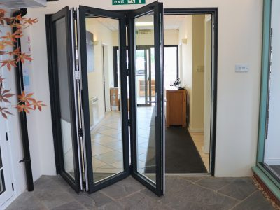 Image of black french doors by 21st Century.