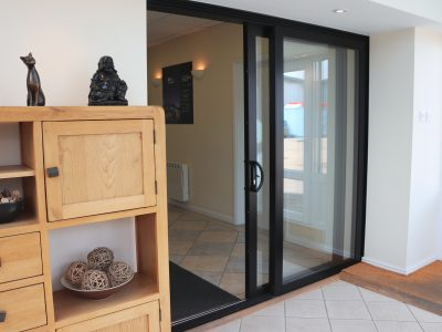 View of modern and stylish new french doors.