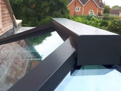 Close up image of a new roof skylight design by 21st Century.