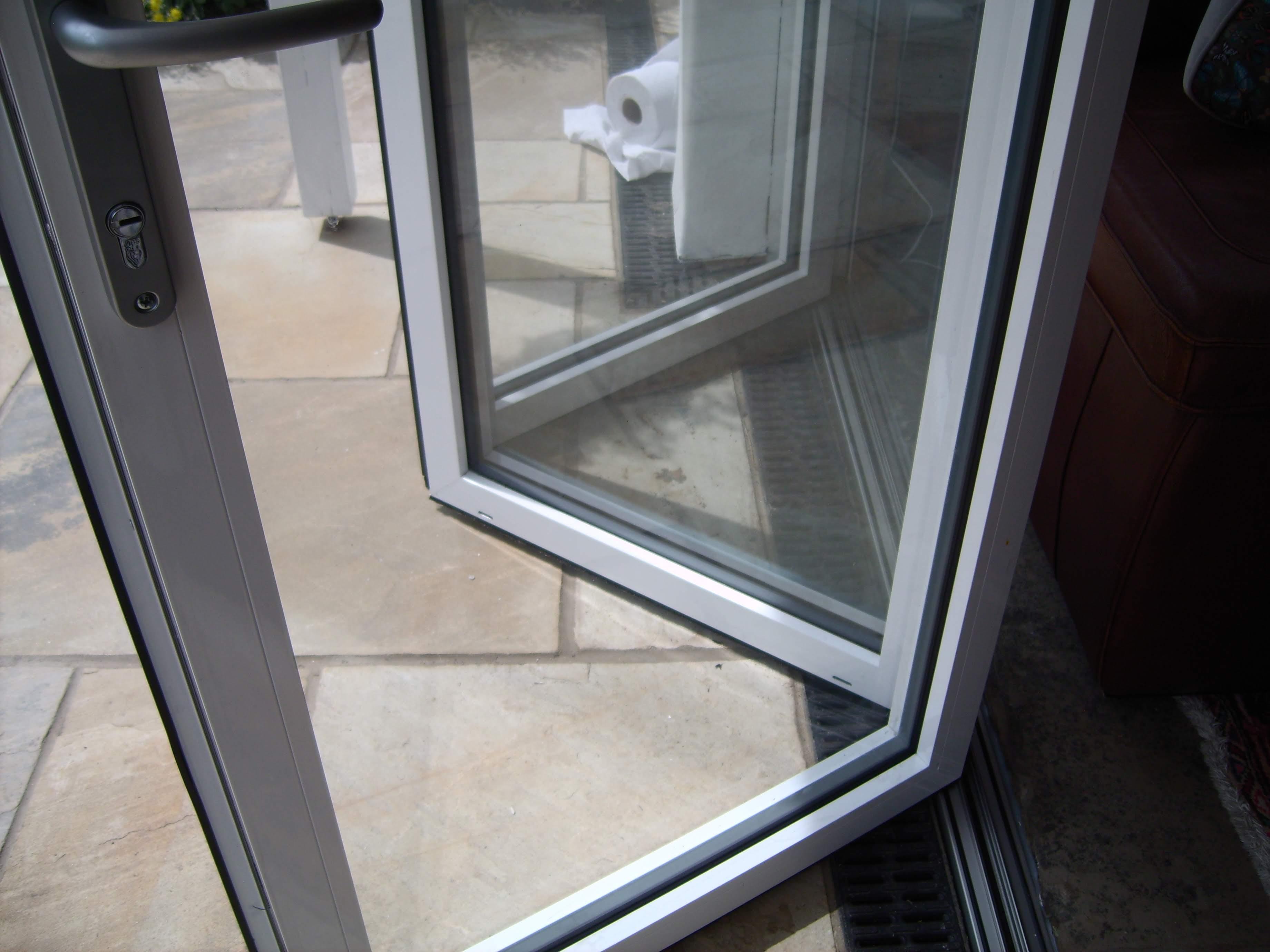 Close up image of Aluminium Bi-Fold french door model.