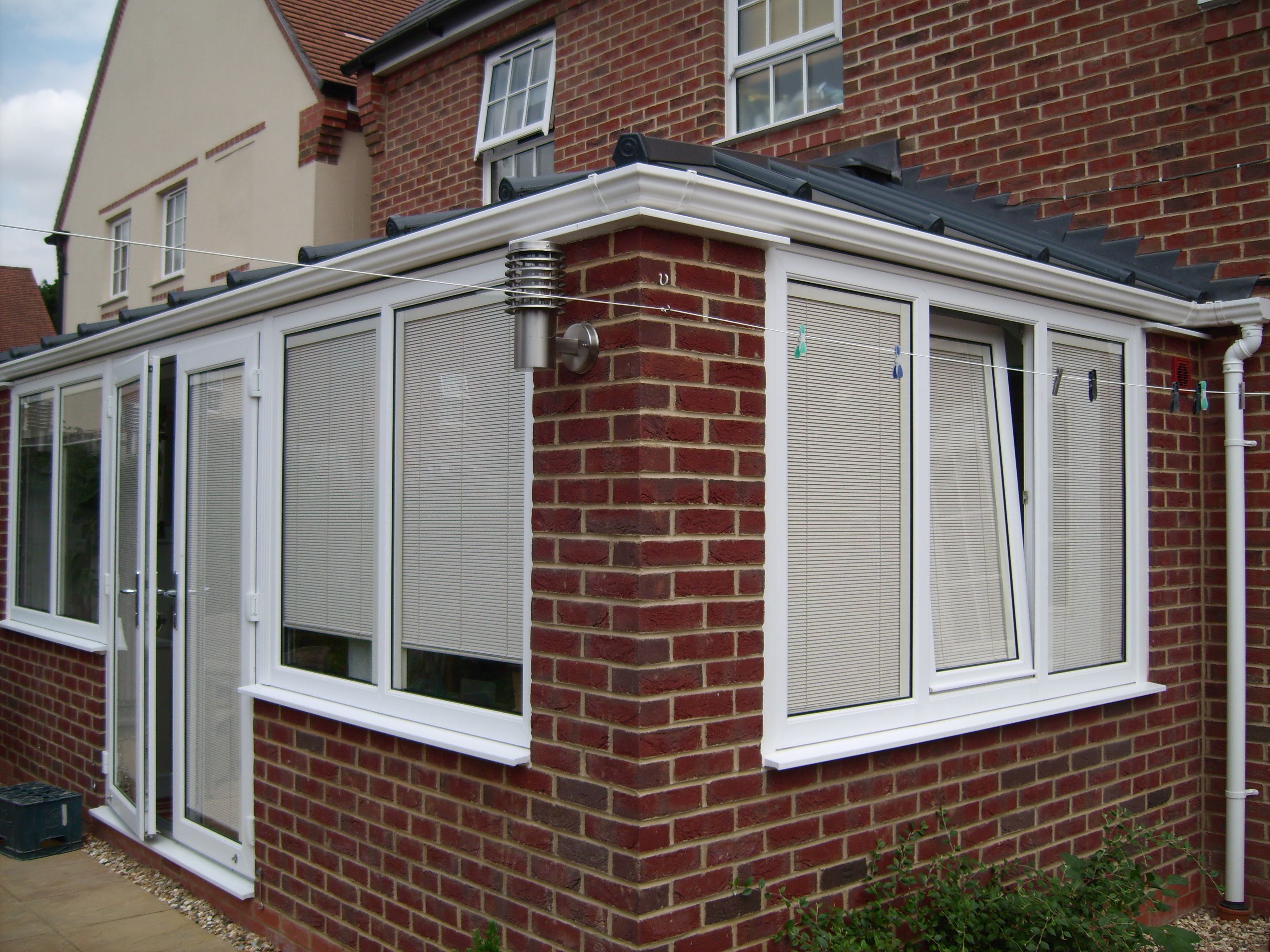 Outside view of built-in-blinds model for Livin room or conservatories.