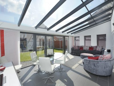 Modern and immaculate Livin room conservatory example.