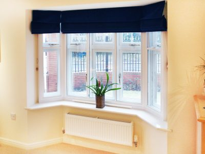 Interior shot of secondary glazing windows.