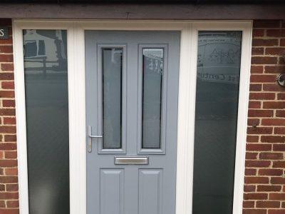 Image of grey composite door model.