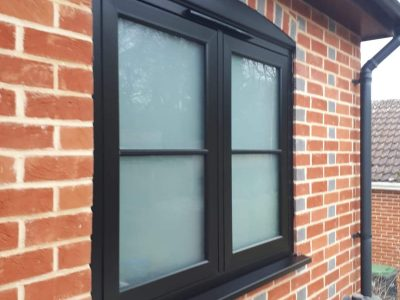Black minimal heritage window design by 21st Century.