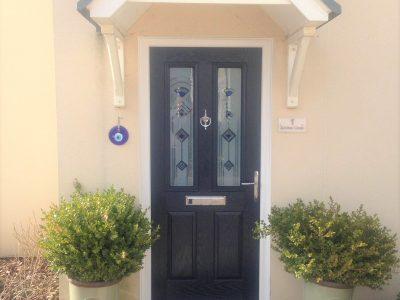 Dark blue example of a composite door.