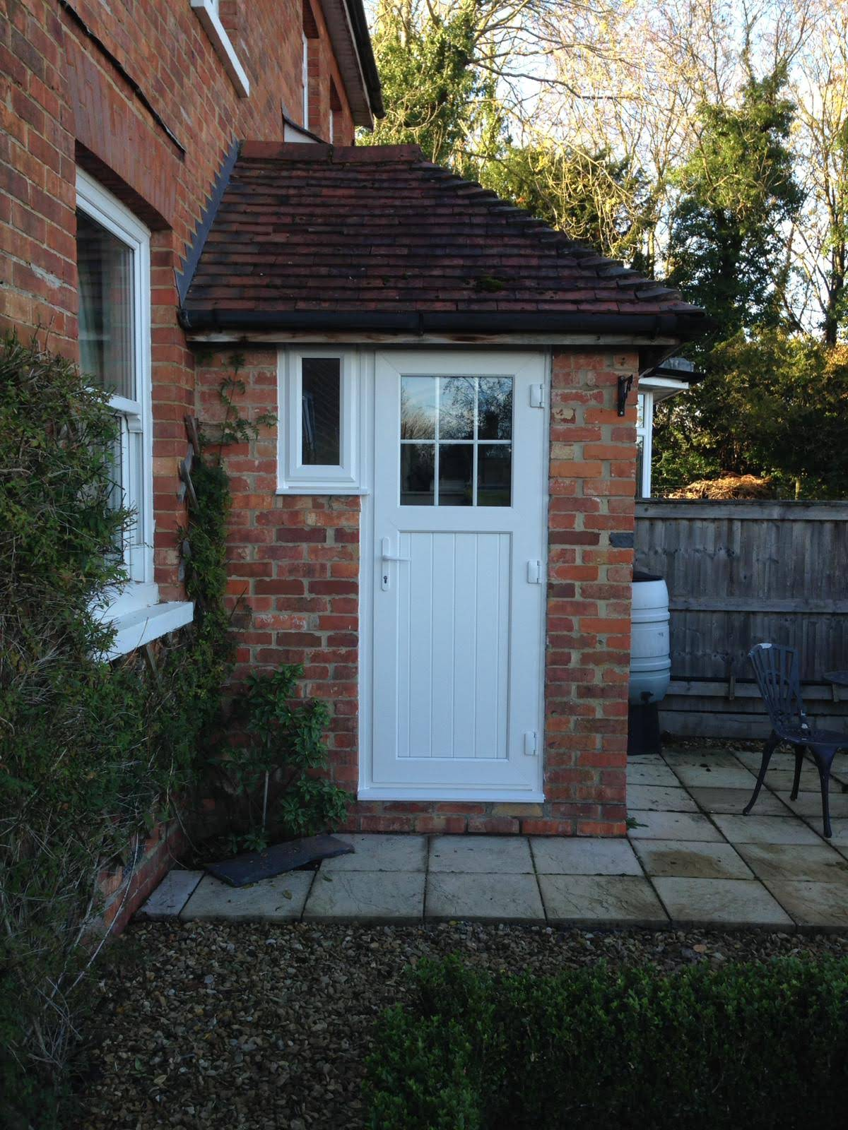Lovely new PVC  installation for back door.