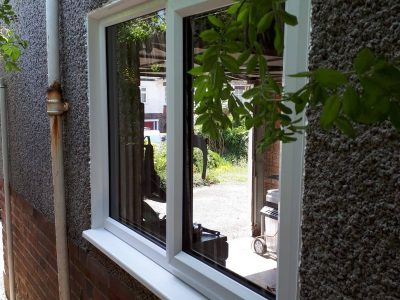 Side view of a new PVC window design.
