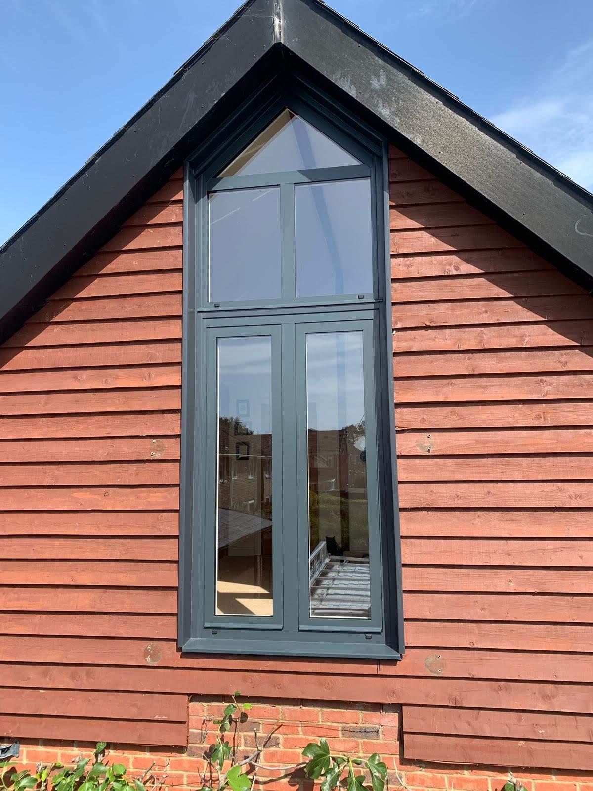 Front view of a new aluminium window design.