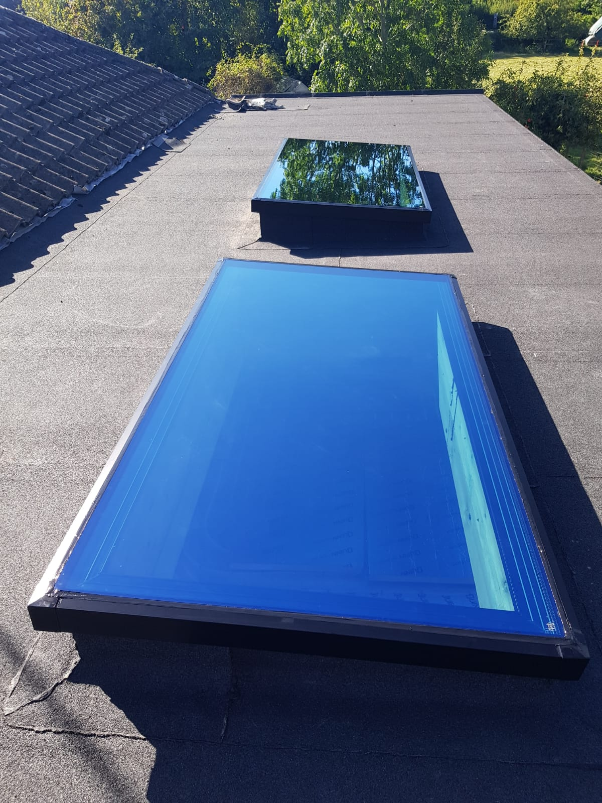Close up image of  skylight model.