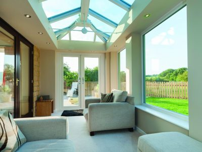 Luminous and spacious Livin room conservatory designed by 21st century.