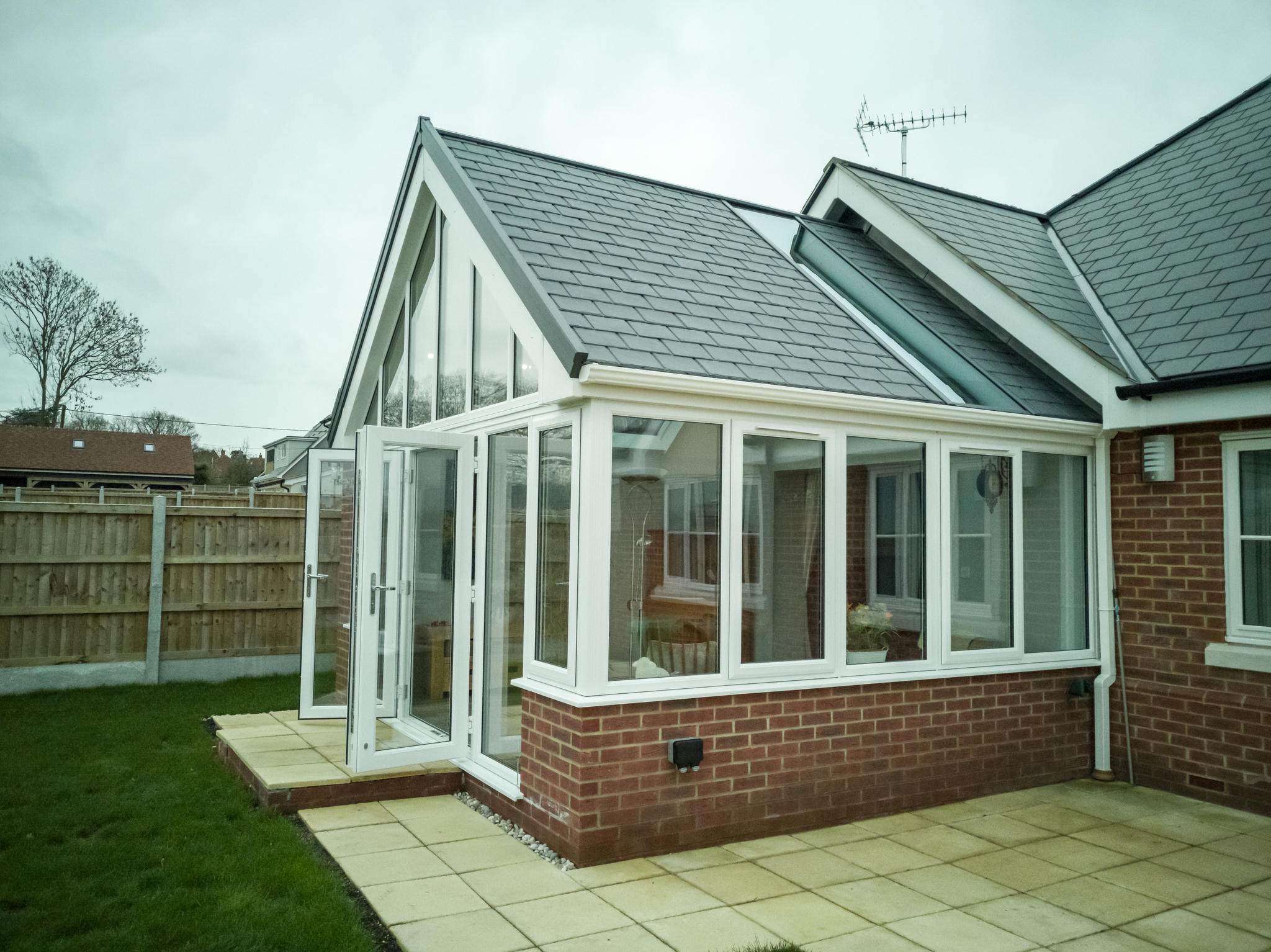 Example of a spacious and comfortable conservatory build.