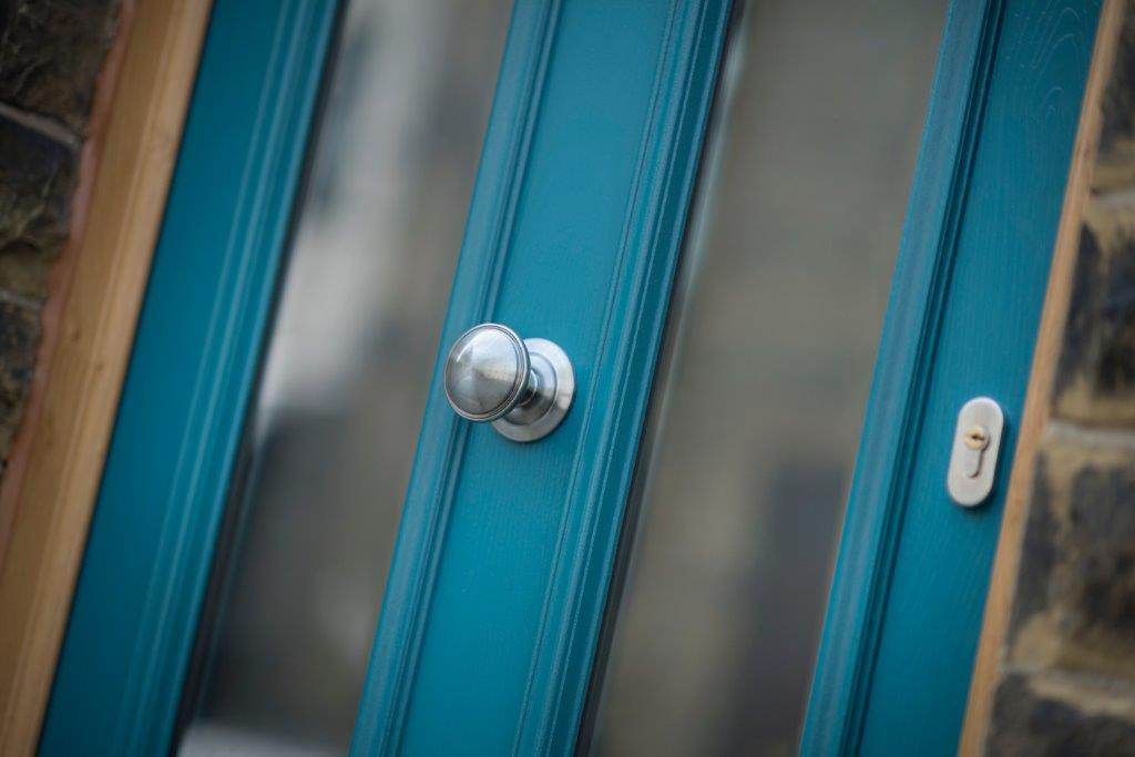 Image of a blue new composite door design.